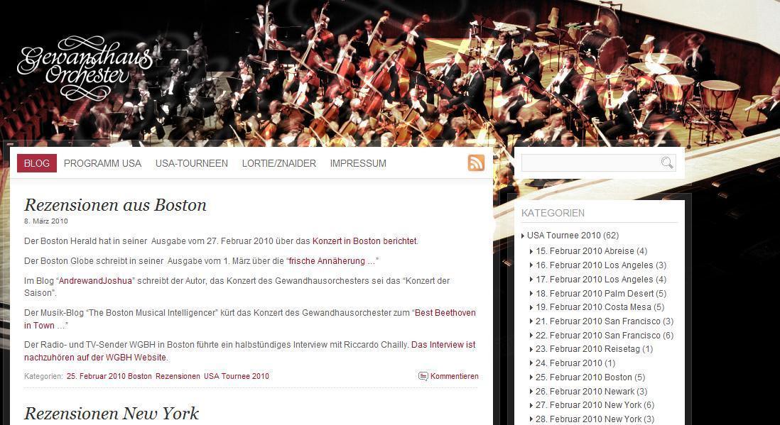 Blog Gewandhaus Orchester