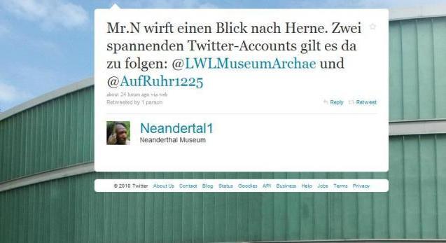 Tweet von Mr.N. aus dem Neanderthal Museum