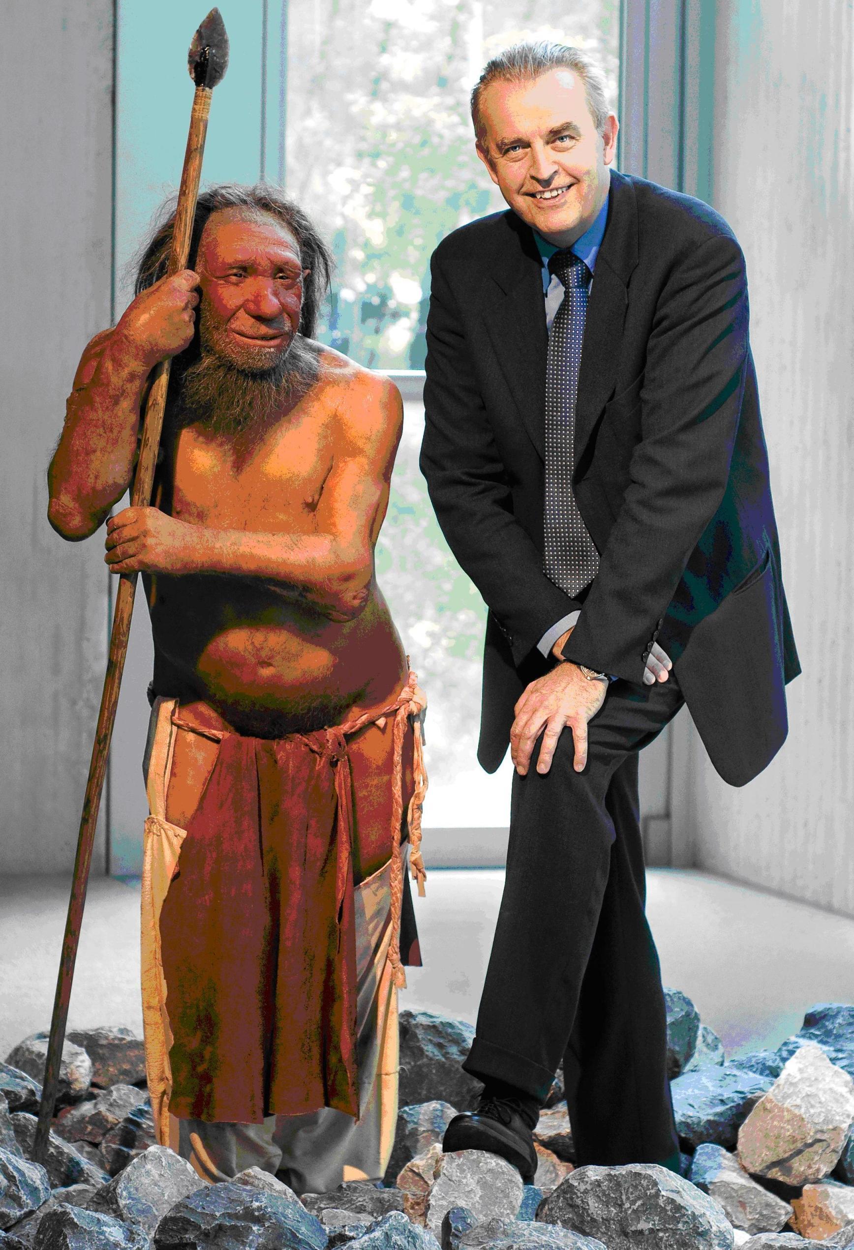 Prof. Dr. Gerd-C Weniger mit Mr. N.