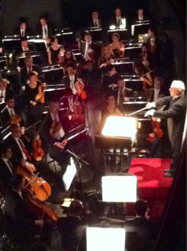 Blick in den Orchestergraben Foto: Twitpic von @MaxBernardini (Massimo Bernardini)