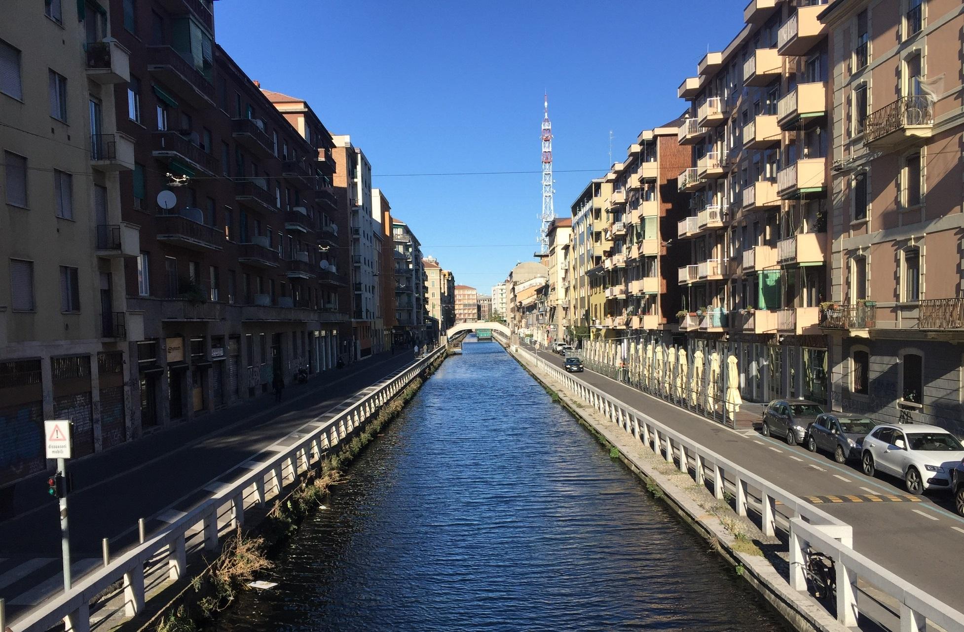 Blick auf den Naviglio Grande in Mailand