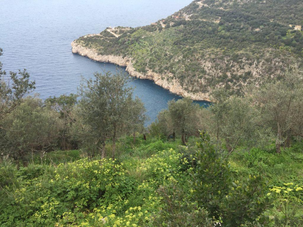 Wandern zur Punta della Campanella am Golf von Salerno