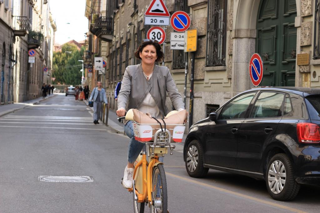 Fotoshooting in Mailands Straßen