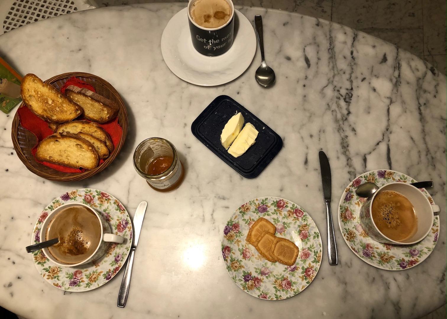 Frühstück in Italien