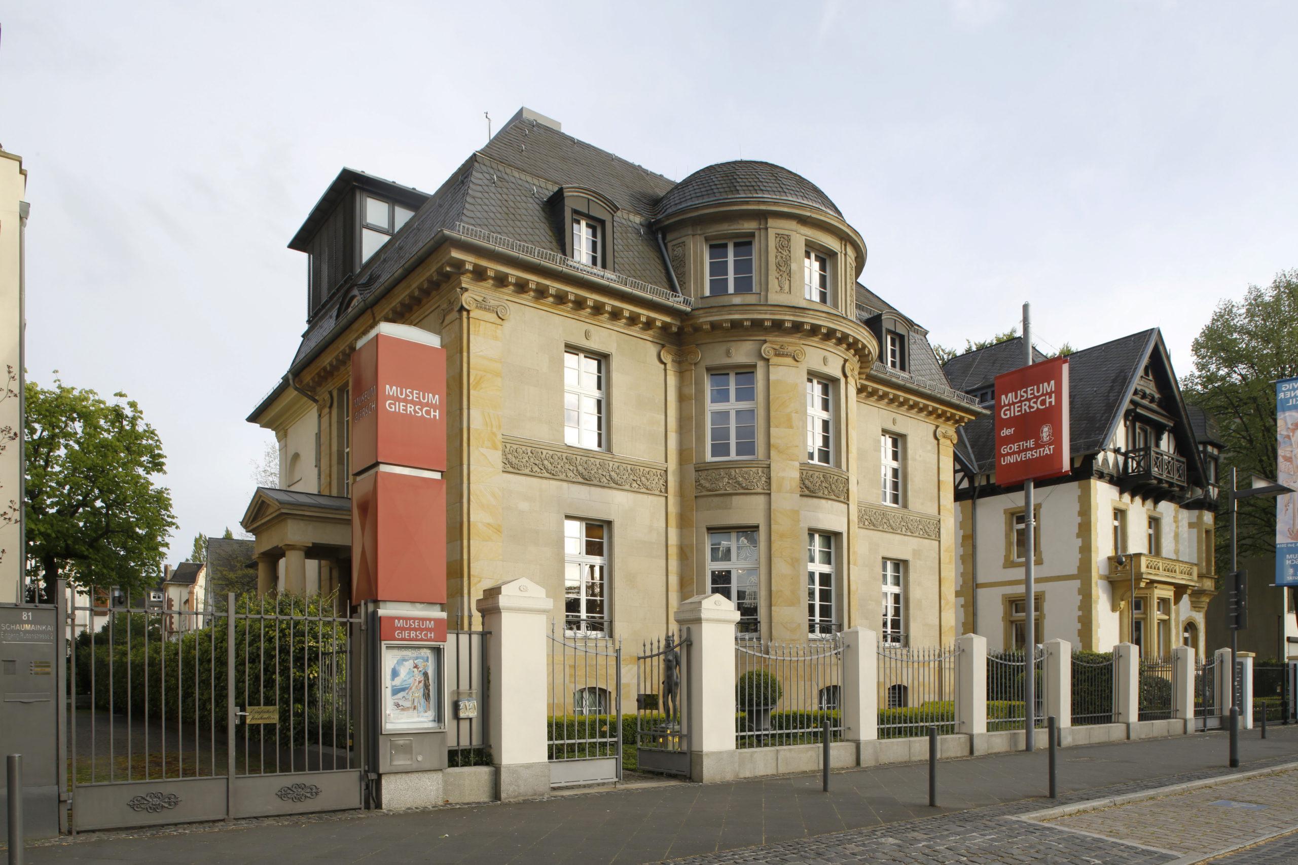 Einer der beiden Ausstellungsorte in Frankfurt: Das Museum Giersch der Goethe-Universtität